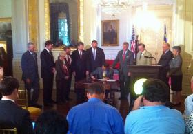 Gov. McCrory signs tax reform into law.