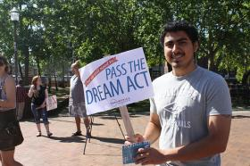 A supporter of the Dream Act petitioned for its passage last August.