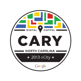 Google named Cary the state's 2013 eCity for the high online connectivity of its small businesses.