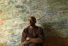 Photo: Portrait of Hakeem in his Detroit home