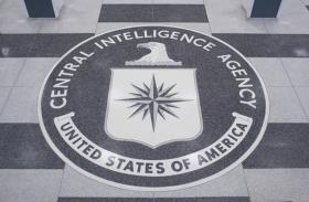 Photo: A CIA seal in the lobby of the CIA