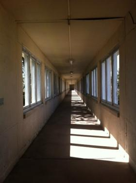 Photo: A hallway in the Carville National Leprosarium