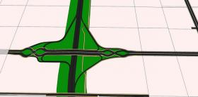 The Diverging Diamond Interchange.