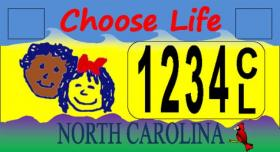 "Representation of a possible ""Choose Life' license plate"