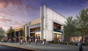 An artist's rendering of the theater's facade planned for University Mall in Chapel Hill