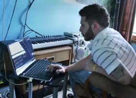 Chad Phelps, 26, has been composing music since he dropped out of high school in ninth grade. Now that he has his GED, he wants to go to college and become an audio engineer. May 2013.