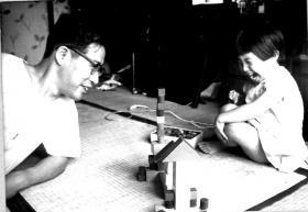 Yuri Yamamoto and her father, Shigeru Takeshima, Tokyo, Japan - 1960's