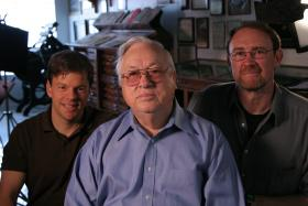 Producers Martin Clark (Left) and Walt Campbell (Right), with Horace Carter (Center).
