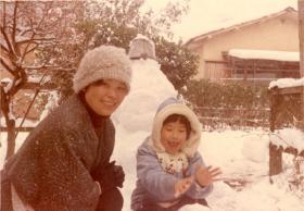 Yuri Yamamoto and her mother,  Tokyo Japan