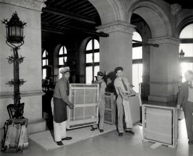 National Gallery of Art paintings being moved for safe storage at Biltmore House