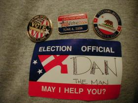 voting pins and buttons