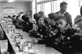 Members of the North Carolina Student Nonviolent Coordinating Committee, shown at the Tottle House lunch counter in Atlanta in 1960, sparked sit-ins across the South.