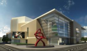 This rendering is of a proposed design for the performing arts center in Greensboro. The project is expected to break ground before the end of 2014.