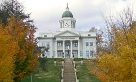 Photo: The old Jackson County Courthouse in Sylva, N.C.