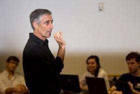 Jeffrey Berejikian teaching a class.