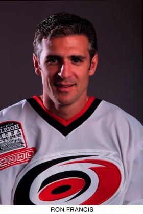 Ron Francis as a player for the Hurricanes in 2000.