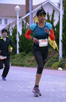 Cherie Armour running a marathon