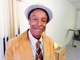 Michael Moor, shines shoes at Mr. Magic's Shoe Shine Parlor, Wilson, NC