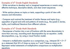 Examples of Common Core standards
