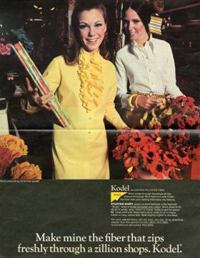 A Kodel ad with a yellow dress from The Hartman Center