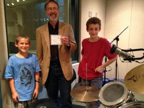 10-year-old Casey Valleroy, host Frank Stasio, and 14-year-old Logan Valleroy