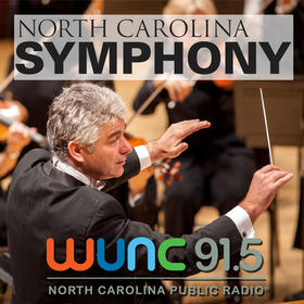 Conductor Grant Llewellyn with the North Carolina Symphony - Logo for 2014 Broadcast Concerts