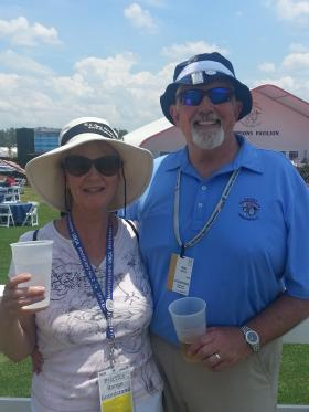 """Bob Wilson's bucket list included """"volunteering at the U.S. Open"""". His wife Ann drove with him in their RV from Michigan. """"I should make a bucket list too,"""" she said with a smile."""