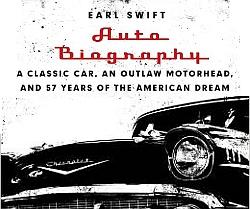 Auto Biography book cover shows a 1957 Chevy