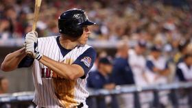 A picture of Mike Hessman at bat.