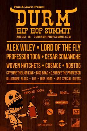 The DURM Hip Hop Summit poster.