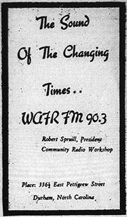 WAFR was an African-American community radio station that distributed soul music to the city.