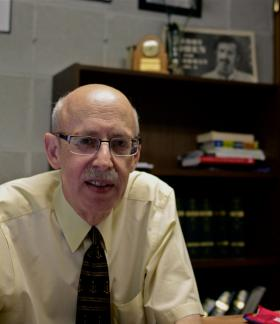 Gerry Cohen, former Special Counsel to the North Carolina General Assembly in his office (2014).