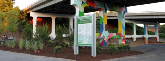 Downtown Greenway in Greensboro, public art,