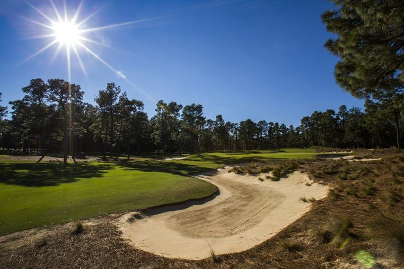 The 16th Hole of Pinehurst No. 2 as seen in Pinehurst, N.C. on Monday, Oct. 22, 2012.