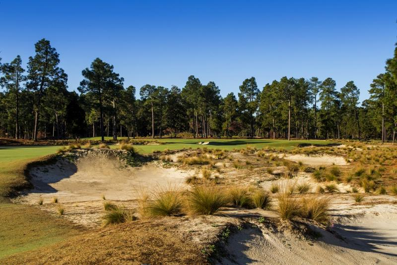The Seventh Hole of Pinehurst No. 2 as seen in Pinehurst, N.C. on Tuesday, Oct. 23, 2012.