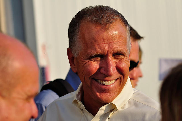 Image of Thom Tillis, who is in his first year as junior U.S. senator from North Carolina.