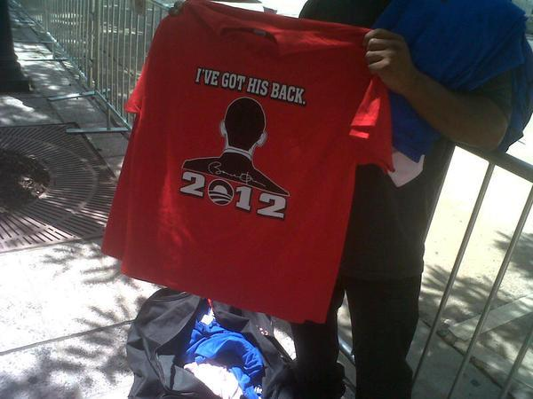 T-shirts for sale in downtown Charlotte during the DNC
