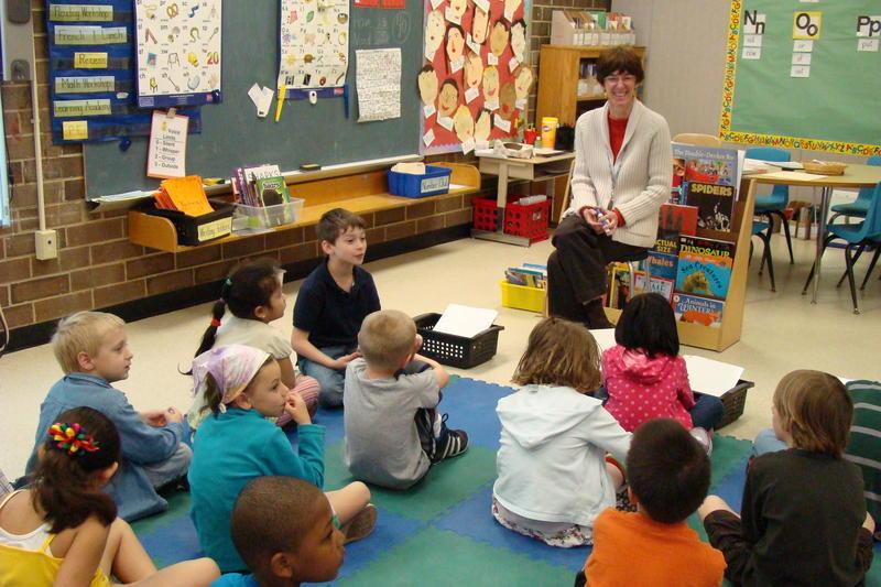 students in a Chapel Hill elementary school.