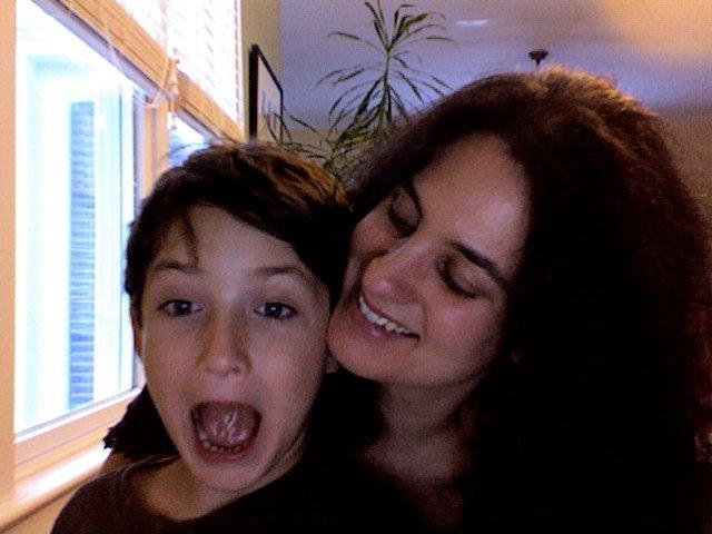 Susan and her silly son, Milo
