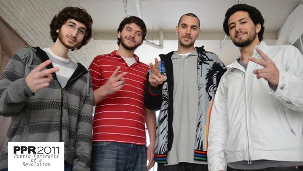 From left to right: Mohammad Moussa, Will McInerney, Kane Smego, and photographer Sameer Abdel-khalek
