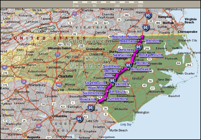 Interstate 95 map