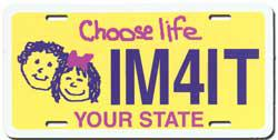 Anti-Abortion License Plate