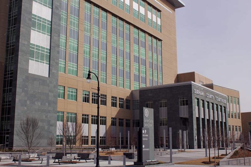 The new Durham County Courthouse