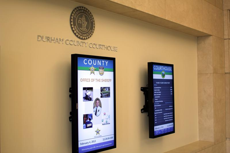 Digital signage in the lobby