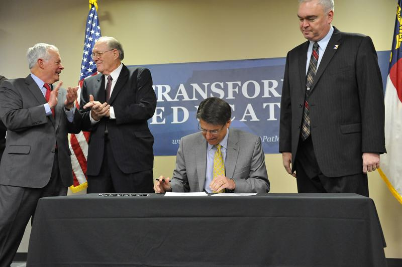Governor McCrory signs first bill February 18, 2013