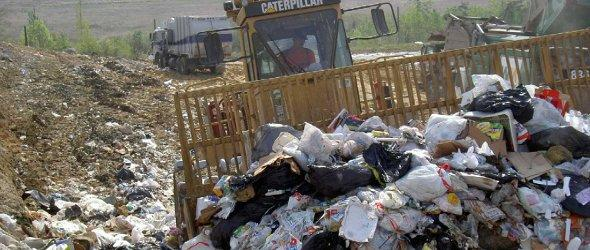 Trash at a state landfill.