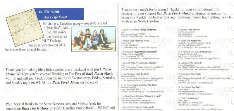 WUNC Best of BPM Vol 15 Page 5