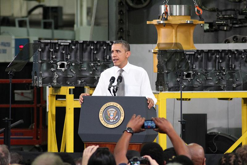 Obama spoke in Asheville last month about raising the minimum wage.