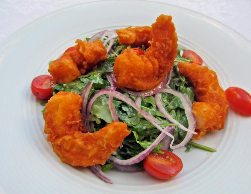 Il Palio's buttermilk fried shrimp salad