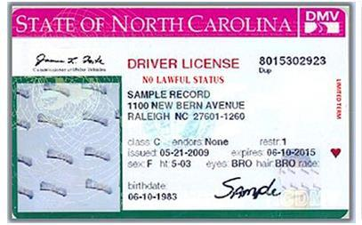 NC DOT Controversial License